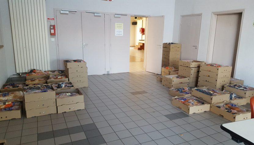 Distribution de brioches